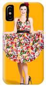 Beautiful Dancing Woman In Retro Red Dress IPhone Case