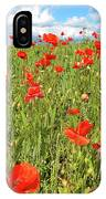 Beautiful Fields Of Red Poppies IPhone Case