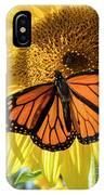 Beauty On The Sunflower IPhone Case
