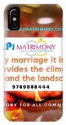 Best Matrimony In Chennai IPhone Case