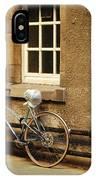 bicycle in Edinburgh close IPhone Case