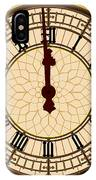 Big Ben Midnight Clock Face IPhone Case