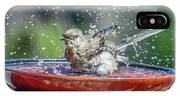 Bird In A Bath IPhone Case