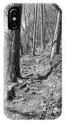 Black And White Mountain Trail IPhone Case