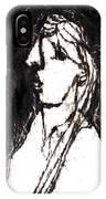 Black Side Portrait IPhone Case