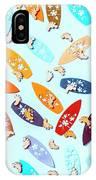 Blue Boarding Beach IPhone X Case