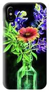 Bluebonnets And Indian Blanket Still Life IPhone Case by JC Findley