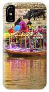Boat And Bank Of The Narmada River, India IPhone Case