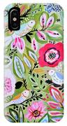 Bohemian Bird Garden IPhone Case