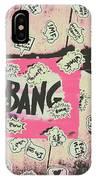 Boom Crash Bang IPhone X Case