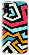 Bright Graffiti Seamless Pattern With IPhone X Case