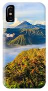 Bromo Volcano At Sunrise,tengger Semeru IPhone Case