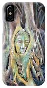Buddha Head In Tree Roots IPhone Case