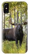 Bull Moose In Fall Forest IPhone Case