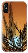 Burmese Fern At Sunset IPhone Case by Chris Lord