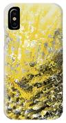 Burst Of Sun - Yellow And Gray Contemporary Art IPhone Case by Lourry Legarde