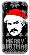 Burt Reynolds Christmas Shirt IPhone Case