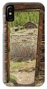 Cabin Framework IPhone Case by Denise Bush