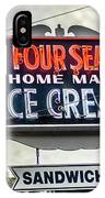 Cape Cod Four Seas Home Made Ice Cream Neon Sign IPhone Case