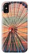 Capital Wheel Shining At Sunset  IPhone Case