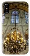 Cathedral Notre Dame Chandelier IPhone Case by Brian Jannsen