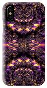 Chained Dragons Condemned  To Battle In Hells Fiery Furnace Fractal Abstract IPhone Case by Rose Santuci-Sofranko