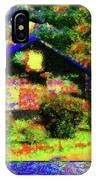 Chateau For Fallen Angels Passing Through Bohemia IPhone Case by Aberjhani