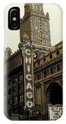 Chicago Cinema Theater - Vintage Photo Art IPhone Case