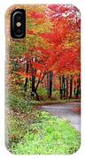 Chikanishing Road In Fall IPhone Case