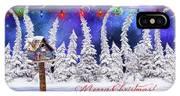Christmas Card With Bird House IPhone X Case
