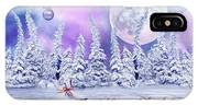 Christmas Card With Ice Skates IPhone X Case