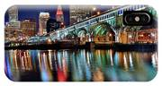 Cleveland Ohio Skyline Reflects Colorfully IPhone Case