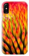 Closeup Of Flower Echinacea Purpurea IPhone Case