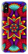 Colorful Flower Mandala IPhone Case by Becky Herrera