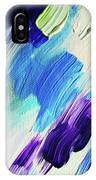 Colorful Rain Fragment 1. Abstract Painting IPhone Case