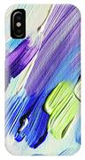 Colorful Rain Fragment 2. Abstract Painting IPhone Case