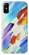 Colorful Rain Fragment 3. Abstract Painting IPhone Case