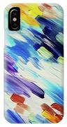 Colorful Rain Fragment 6. Abstract Painting IPhone Case