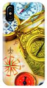 Compass And Compass Rose IPhone X Case