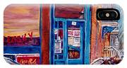 Corner Cafe Clark And Fairmount Wilensky's Winter Scene Habs Hockey Art C Spandau Quebec Artist IPhone Case