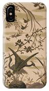 Cranes And Birds At Pond 1880 IPhone Case
