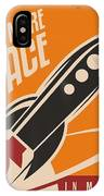 Creative Design Concept With Rocket And IPhone X Case