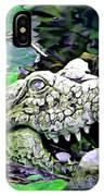 Crocodile Profile. IPhone Case