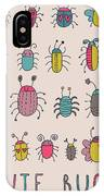 Cute Bugs. Cartoon Insects In Vector Set IPhone X Case