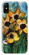 Dancing Flowers IPhone Case by Laurie Lundquist