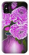 Dark And Delicious Roses In Pink Lilac IPhone Case
