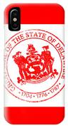 Delaware Seal Stamp IPhone Case
