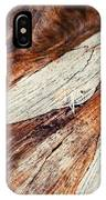 Detail Of Abstract Shape On Old Wood IPhone Case
