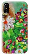 Dog With Flowers IPhone Case by Jacqueline Athmann
