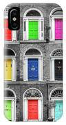 Doors Of Dublin - Vertical IPhone X Case